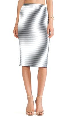 Lovers + Friends Day To Night Pencil Skirt in Stripe   REVOLVE