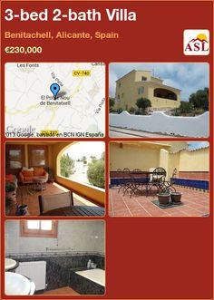 3-bed 2-bath Villa in Benitachell, Alicante, Spain ►€230,000 #PropertyForSaleInSpain