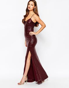 Image 4 of New Look Sequin Strappy Maxi Dress