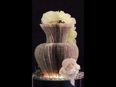 Book folding. Cut out vase from a book. Easy and amazing results Wedding table decoration - YouTube