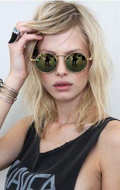 22a98b1ce40bd Gafas de sol redondas - Round sunglasses - Hipster - Grunge - Rocker -  Gafas de