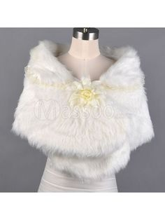 Cheap Short Sleeved Faux Fur Winter Bridal Bolero