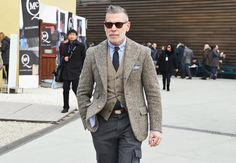 Fun and funky.  Tommy Ton at Pitti Uomo Fall 2012- Men's Street Style: Style: GQ