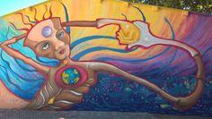 """""""Indra Gagui"""" by Rocio Matosas. Project """"Criar Mudança através de Arte Urbana"""" (Create change through Urban Art)  Boutique da Cultura & Crescer a Cores  Barrio Padre Cruz, Carnide, Lisbon, Portugal - 2016"""