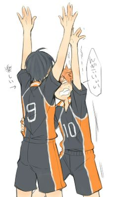 pfft kageyama and hinata lol dorks || http://www.pixiv.net/member.php?id=372304 [please do not remove this caption with the source] #anime #illustration