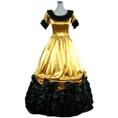 Kivary® Short Sleeves Long Vintage Gothic Victorian Prom Lolita... ($120) ❤ liked on Polyvore featuring dresses, prom dresses, goth dresses, short-sleeve dresses, long sleeve short dress and long prom dresses