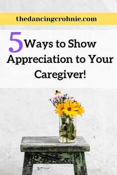 If you have a chronic illness or autoimmune disease like Crohn's Disease or Ulcerative Colitis this post is for you! Read about 5 ways to show your caregiver some love! Ulcerative Colitis, Autoimmune Disease, Crohn's Disease, Show Appreciation, Crohns, Health Advice, Caregiver, Chronic Illness, Health Remedies