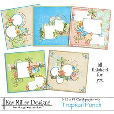 Tropical Punch 12 x 12 Quick Pages