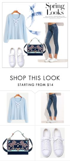 """Shein 12"" by zerina913 ❤ liked on Polyvore featuring Fendi, H&M and shein"