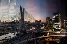 Para comemorar os 462 anos da cidade de São Paulo, o G1 produziu uma série de 'timeslices', imagens únicas que mostram de um jeito diferente o nascer ou o por do sol