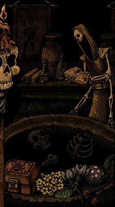 TES art,The Elder Scrolls,фэндомы,Morrowind,pickmanscellar,Кланфир,Даэдра,Скамп,Даэдрот,Золотой святоша,алчущий,костяной…