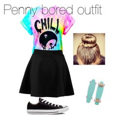 """""""Penny Bored"""" by meganhenk ❤ liked on Polyvore"""