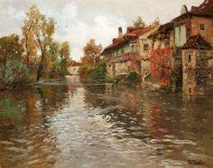 Fritz Thaulow. Norwegian Impressionist Painter, ( 1847-1906 )