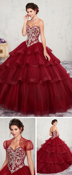 586123d9fa198 MQ2004 Strapless tulle quinceanera ball gown features corset bodice  embellished with beads and embroidery