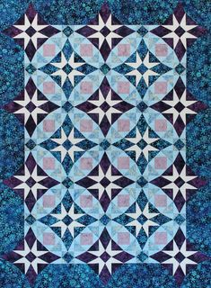 Stormy Stars is the companion pattern for Marie Bostwick's novel, The Promise Girls, making this the sixth collaborative work between Marie and Deb.  Construction of this quilt could be challenging just like the lives of the Promise Girls, yet with the aid of Studio 180 Design's Diamond Rects and Square Squared tools, it'll be smooth sailing when you dive right into this project!