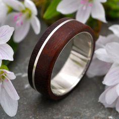 Asi Guapinol Wood Ring - sustainable wedding ring in rosewood