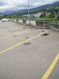 #Parking lot: Rain dries in the hollows made by the weight of the cars Repin and follow!