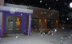 Snowing on the Art Therapy Complex...