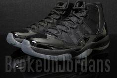 8401897e8da0 Original Air Jordan 11 Blackout Latest Air Jordan 11 For Sale