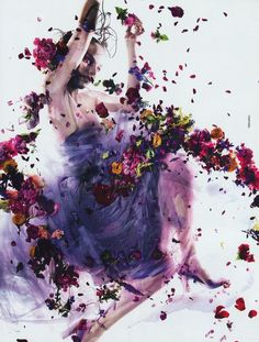 Most awesome editorial to do with flowers, ever. Dazed and Confused Magazine.