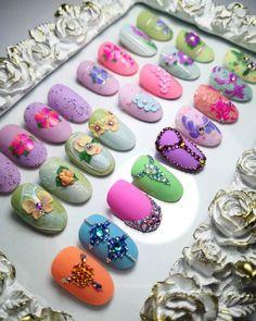 Flower Nail Art, Nail Fashion, 3d Nails, Fingernail Designs, Art