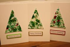 Homemade Christmas cards made with some toddler intervention Christmas Crafts For Toddlers, Christmas Card Crafts, Childrens Christmas, Preschool Christmas, Christmas Cards To Make, Noel Christmas, Christmas Activities, Handmade Christmas, Childrens Homemade Christmas Cards