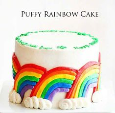 Rainbow surprise cake + Top 50 Rainbow Desserts - the perfect way to celebrate St. Patrick's Day and welcome spring!