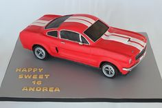 1966 Shelby Ford Mustang GT350 cake