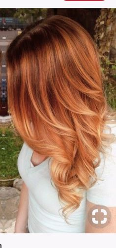 7 Breathtaking Hair Color Trends For 2019 Red Hair copper red hair color Red Balayage Hair, Red Blonde Hair, Strawberry Blonde Hair, Red Hair With Blonde Highlights, Black Hair, Red Hair Blonde Highlights, Red Balyage, Copper Balayage Brunette, Warm Red Hair