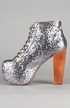 Nothing says Hello last year of my twenties like glittery Jeffery Campbell Lita  shoes