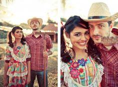 Roupas de festa junina 2015 John The Baptist, Boho, Cowboy Hats, Traditional, Costumes, Couple Photos, Party, Inspiration, Dresses
