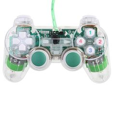 USB PC Mono Shock Game Controller Joypad -Green - Aulola Online Store $7.88