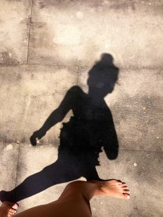 This selfie is a good example of a shadow while the sun is high in the sky.