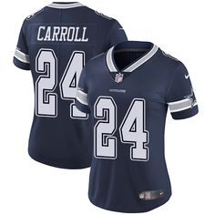 Women's Nike Dallas Cowboys #24 Nolan Carroll Limited Navy Blue Team Color NFL Jersey