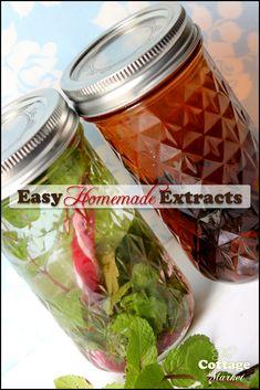 Homemade Vanilla and Peppermit Extract