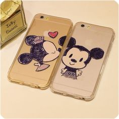 Kissing Minnie Mickey Mouse For iphone 6 plus 5s 5 Case Silicon Phone Cases Full Protection Super Slim For Lovers Free Shipping High Quality case China phone cases Cheap case for i phone from Jelly Beans' case shop on Aliexpress.com