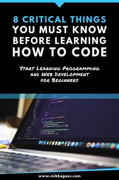 When you're 100% new to coding, where should you start learning? What programming language should you learn? Which tools do you need to master to launch a career as a full-time developer or freelance web developer? Check out these helpful tips for beginner programmers to save time and learn to code faster! #mikkegoes #coding #learntocode #programming #codenewbie #technology #webdevelopment #webdeveloper #webdesigner #tech
