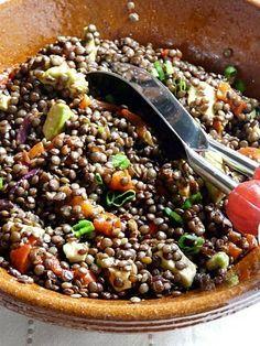 Salade de lentilles vertes