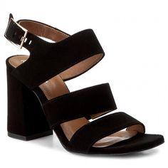 Sandale R.POLAŃSKI - 0868 Czarny Zamsz