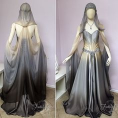 Starlight Gown by Lillyxandra dress necklace cosplay costume LARP LRP equipment… Fantasy Costumes, Cosplay Costumes, Sci Fi Costumes, Elf Cosplay, Halloween Cosplay, Pretty Dresses, Beautiful Dresses, Fantasy Dress, Fantasy Outfits
