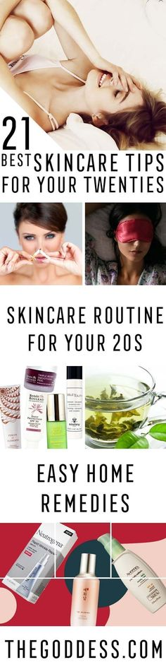 Best Skincare Tips for Your 20s - Anti Aging Tips And Tricks As Well As Skincare Regimens and Skin Care Routines That Help With Preventing Wrinkles, Covering Up Dark Circles, and Scarring. Best Skincare Routine Ideas And Tutorials For How To Get Perfect Skin And Get Rid of Acne Scars. Try Coconut Oil, Face Masks, and Eye Creams To Maximize The Beauty of Your Skin. Look Natural And Gorgeous With Radiant Skin Again. https://thegoddess.com/skincare-tips-for-your-20s #skincareroutine