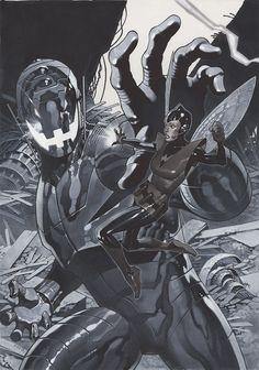 """Une des couvertures de l'arc """"What if? Age of Ultron"""" par Chris Stevens."""