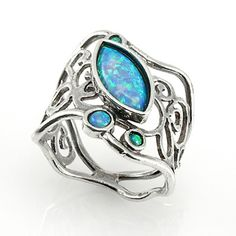 Silver Ring with Opal                                   Wowsa, beautiful & unique