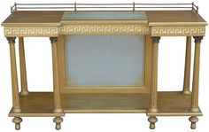 Neoclassical Server w/ Greek Key Design - Buffets & Sideboards - Dining Room - Furniture One Kings Lane Art Deco Furniture, Dining Room Furniture, Furniture Storage, Art Deco Lighting, Vintage Lighting, Classic Furniture, Mid Century Modern Furniture, Fluted Columns, Second Hand Furniture