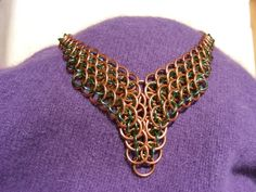 Mirror Dragonscale, Game of Thrones inspired Statement Necklace, in Copper.. 49.00, via Etsy.