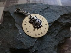 Handmade Nana wise old owl key chain or keyring by lauriebale, £4.25
