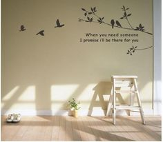 Tree and Bird Mural Art Wall Stickers