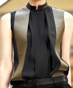 Fashion & Lifestyle: Celine Two-Tone Shirt - Fall 2011