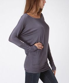 Look what I found on #zulily! Charcoal Dolman Top by Bellino #zulilyfinds