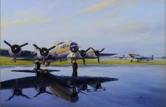 Aviation Art Painting by Terry Jones - After the Storm